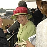 Queen Elizabeth II visited Churchill Downs for the 133rd Kentucky Derby in 2007.