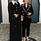 Sarah Paulson and Holland Taylor at the Vanity Fair Oscars Afterparty 2020