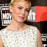 Michelle Williams Looks Beautiful in White on the Critics' Choice Awards Red Carpet