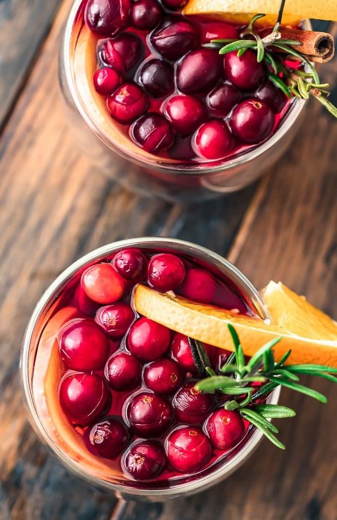 Hot Cranberry Apple Spiced Cider