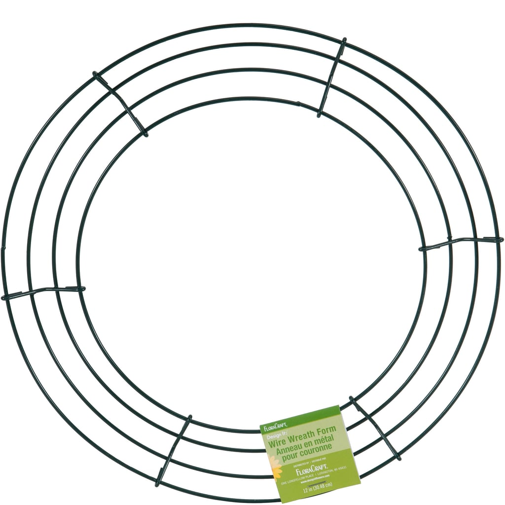 "FloraCraft Design It 12"" Green Wire Wreath"