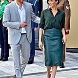 Meghan Wearing the Green Version in October 2018