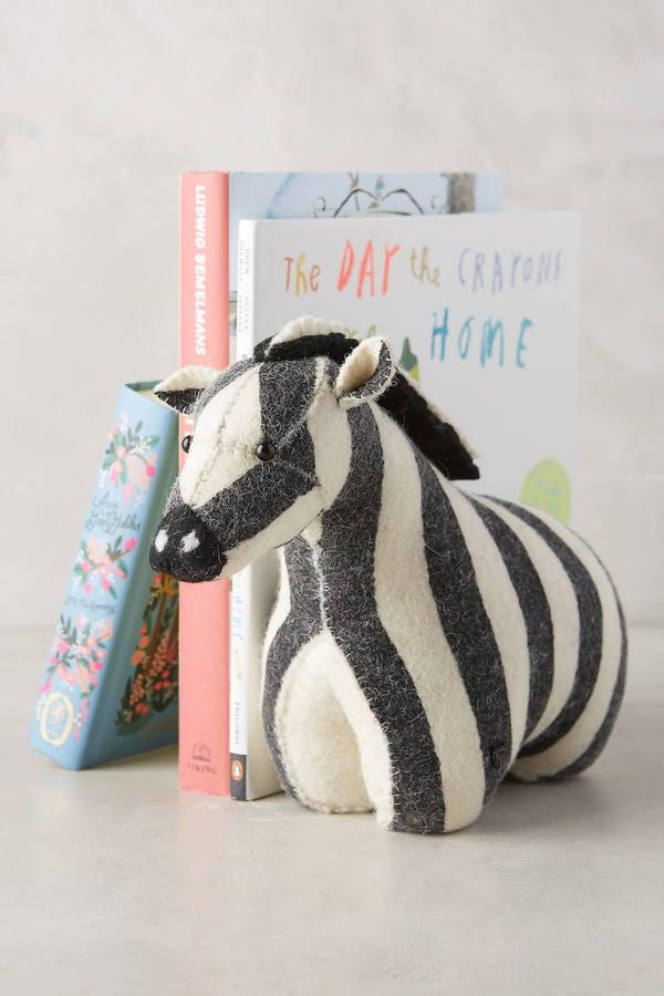 Fiona Walker England Soft & Sturdy Zebra Bookend