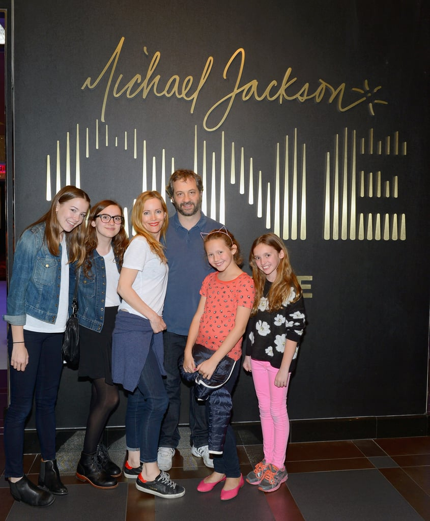 Leslie Mann and Judd Apatow brought their family to a performance of Michael Jackson ONE in Las Vegas on Tuesday to celebrate the actress's birthday.