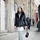 A Cosy Jacket to Warm Up Cropped Trousers