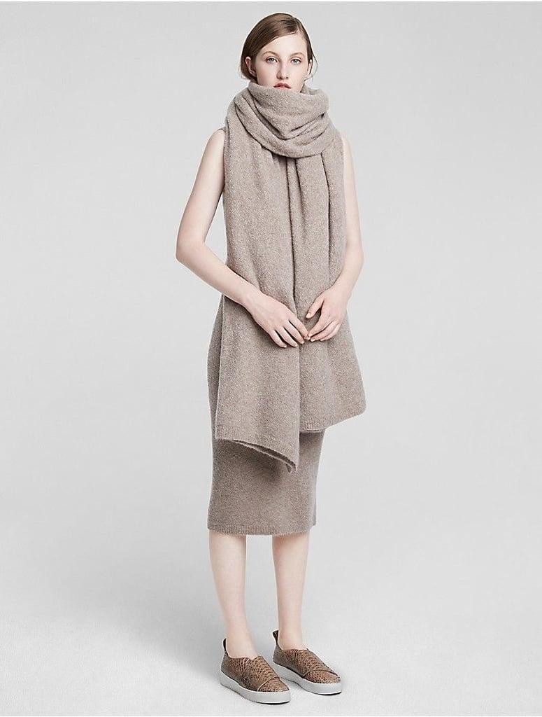 Calvin Klein Womens Cashmere Blanket Scarf Stone ($697)