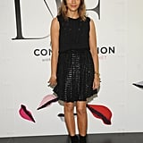 Rashida Jones opted for a more subtle look in all black, and finished with a pair of ankle boots.