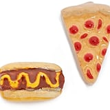 Venessa Arizaga Snack Attack Pizza + Hotdog Earrings ($50)