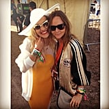 Stella McCartney and Rita Ora linked up at Glastonbury. Source: Instagram user ritaora