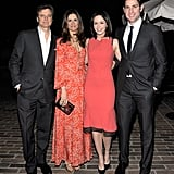 Colin Firth, Livia Firth, Emily Blunt, and John Krasinski met up at a Chateau Marmont bash benefiting Oxfam and the Green Carpet Challenge.