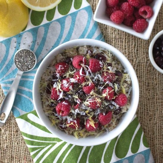 Raspberry Lemon Oatmeal With Chia Seeds
