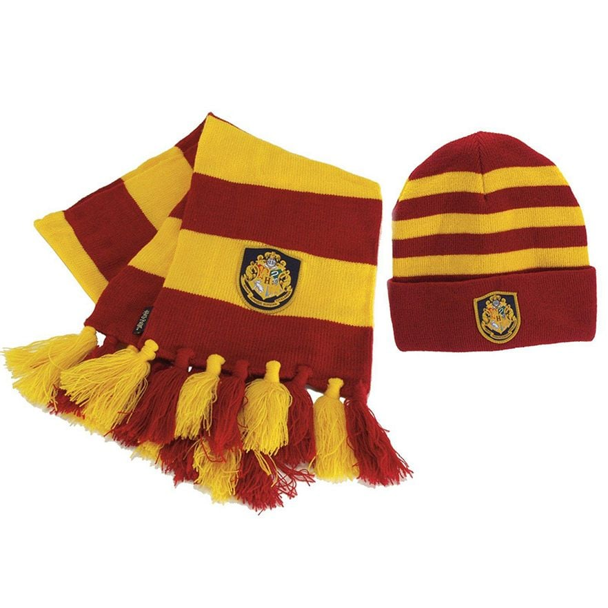 10d60fa9623 Gryffindor Hat and Scarf Set