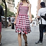 Wear a Cute Checkered Dress
