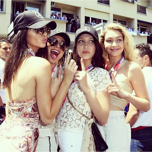 Pictures Kendall Jenner and Gigi Hadid at Monaco Grand Prix
