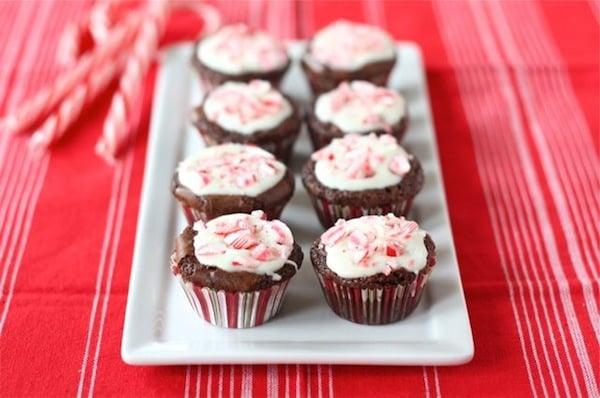 Peppermint Crunch Brownie Bites