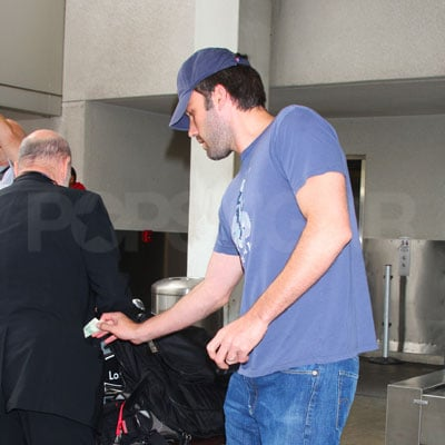 Ben Affleck Tips at LAX