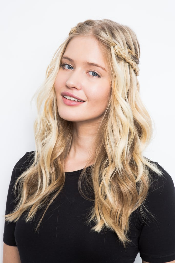 Waterfall Braid Hairstyle How-To