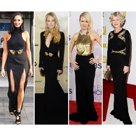 Kate Hudson, Alesha Dixon, Helen Mirren Black and Gold Style