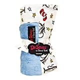 Dr. Seuss The Cat in the Hat Blue & White Receiving Blanket