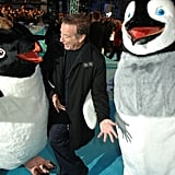He danced on the red carpet with giant penguins at the London premiere of Happy Feet in November 2006.