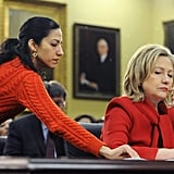 Abedin slipped Clinton a note during a heading in Congress in 2011.