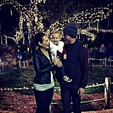 The sweet family checked out the lights at the Houston Zoo in December 2014.