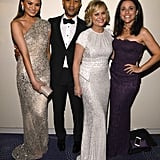 Chrissy Teigen, John Legend, Amy Poehler, and Julia Louis-Dreyfus caught up at CNN's pre-dinner drinks Saturday.