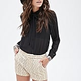 Forever 21 Abstract-Embroidered Glitter Shorts ($20)