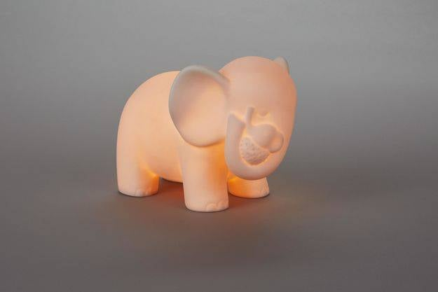 Elephants Porcelain Nightlight