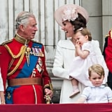 Kate cracked up at Prince Charles during the 2016 Trooping the Colour.