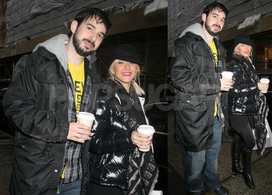 Photos of Christina Aguilera and Jordan Bratman Shopping in NYC