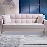 Ebern Designs Wooler Modern Fabric Tufted Sofa