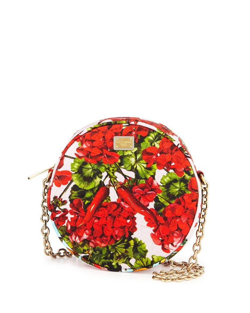 12103058094c Dolce   Gabbana Glam Floral-Print Round Crossbody Bag ( 895 ...