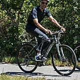 Biking during a 2014 vacation in Martha's Vineyard.