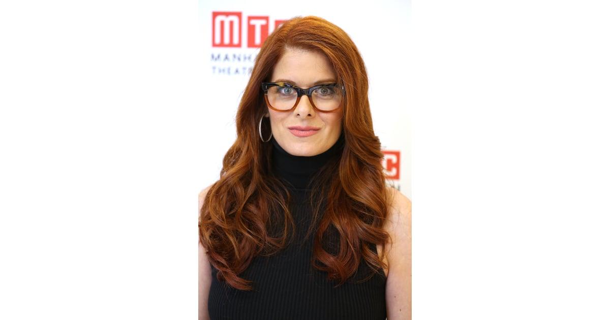 Debra messing c l brit s qui portent des lunettes de vue for Portend or portent