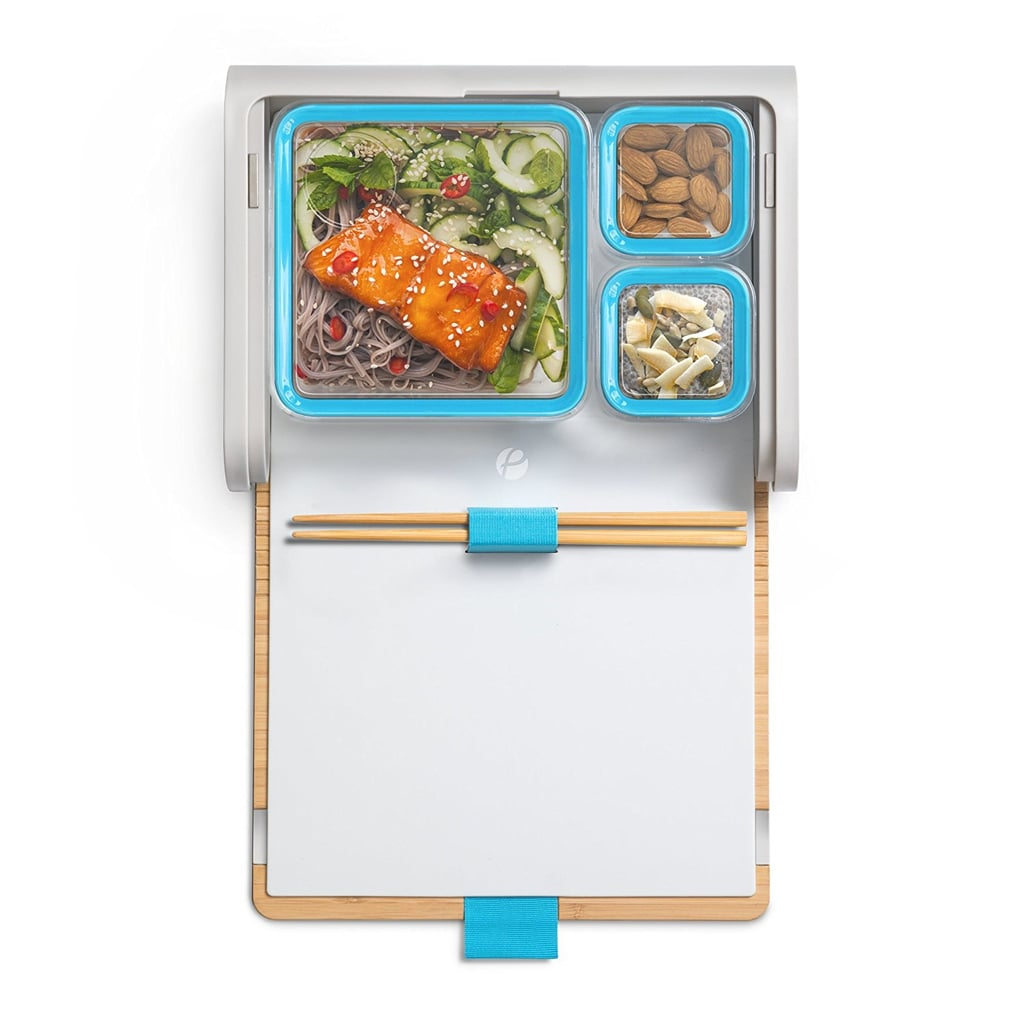 Prepd Pack Lunch Box With Modular Food Storage Containers and Chopsticks Set