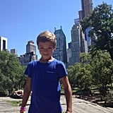 Kelly Ripa took a stroll through Central Park with her son, Joaquin. Source: Twitter user KellyRipa