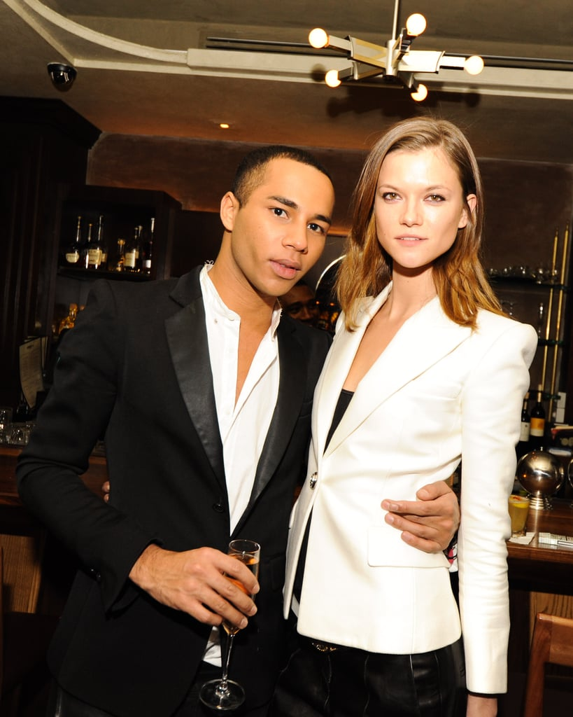 Olivier Rousteing and Kasia Struss