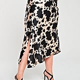 V by Very Curve Cow Print Satin Skirt