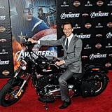 Tom rode a motorcycle.