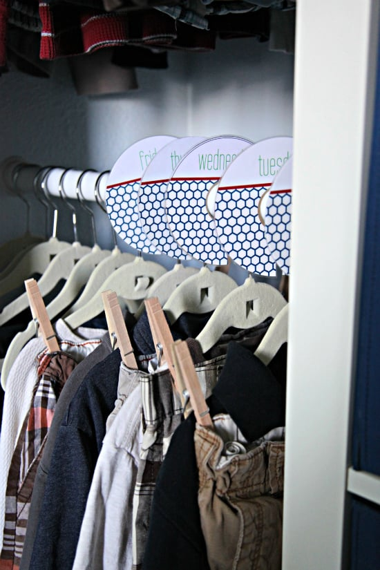 Day Of The Week Clothes Organization Tips And Diys