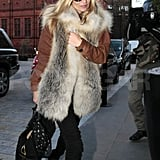 Kate Moss Lunches Stylishly During a Break From Her Fashion Work