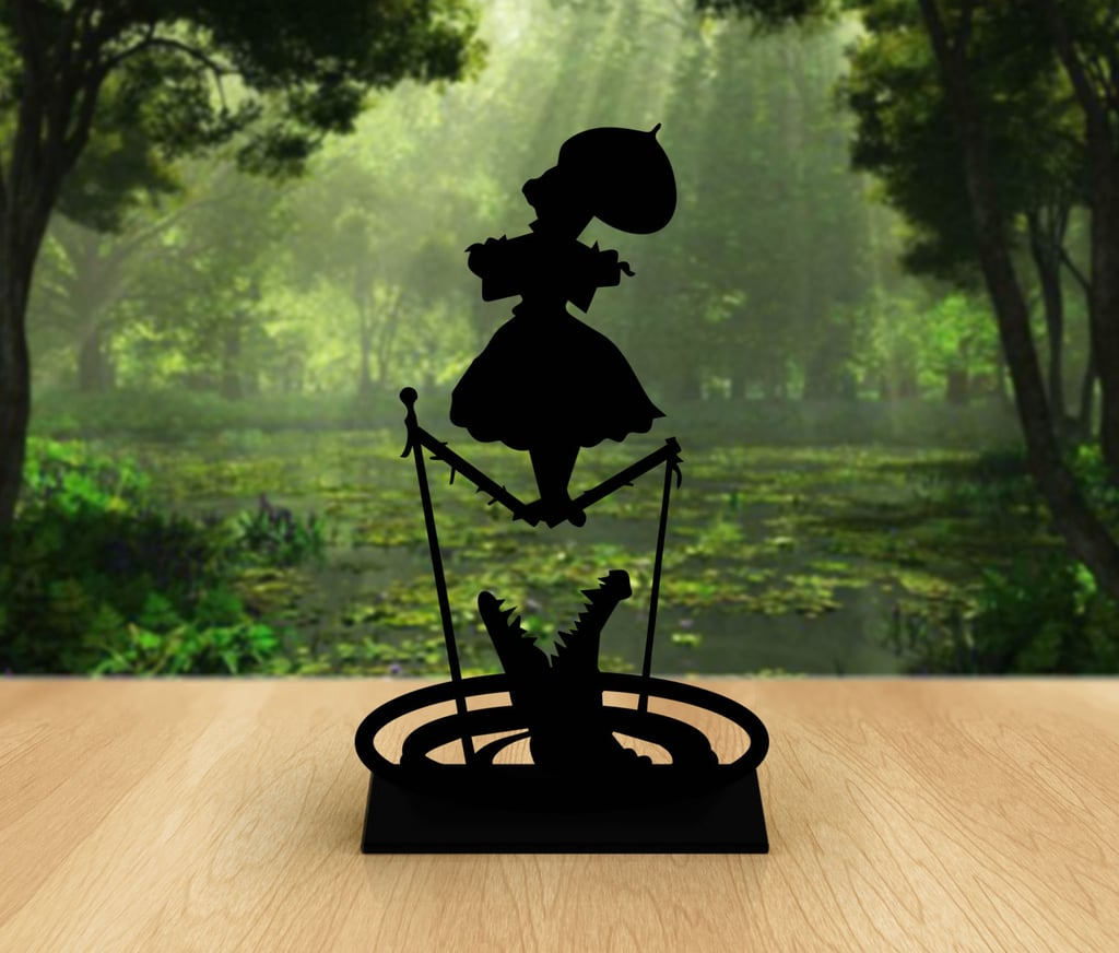 How Eerily Perfect Will This Acrylic Silhouette Of The