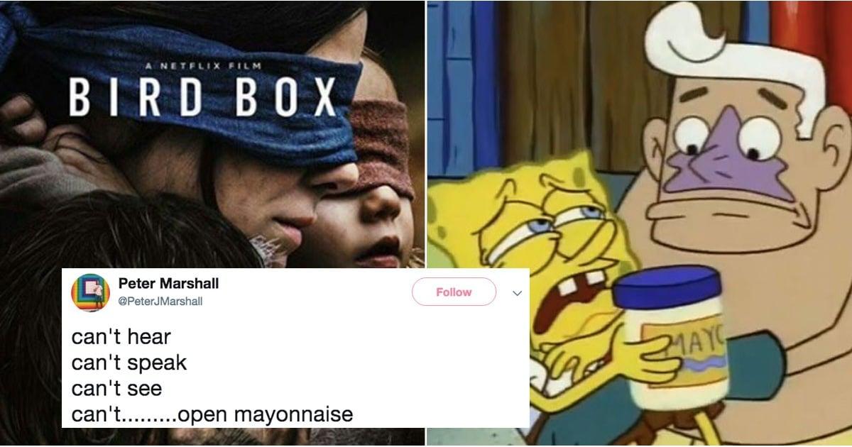 Can T Hear Can T Speak Can T See Bird Box Movie Memes Popsugar