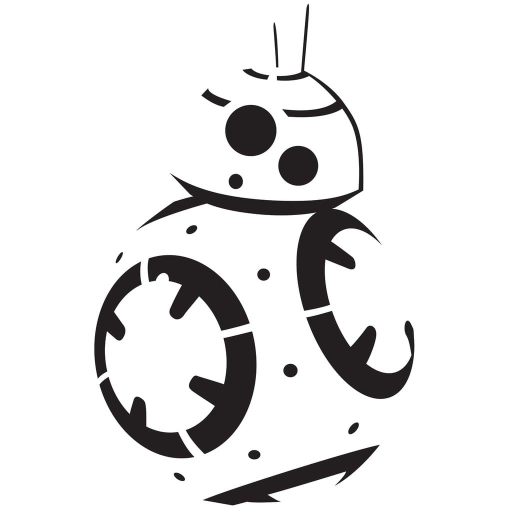 BB-8 Pumpkin Template