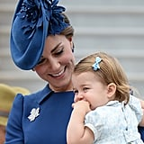 Kate's dimples were in full swing as she smiled at Charlotte.
