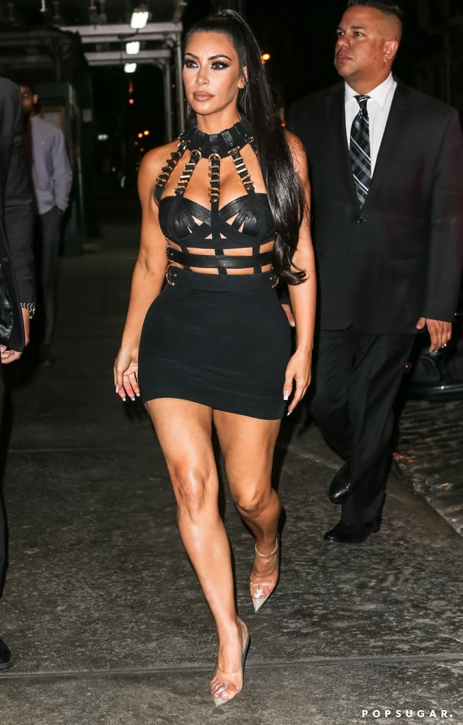 b8cfaa708ab Kim Kardashian Versace Met Gala Afterparty Dress