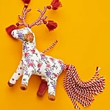 Patchwork Reindeer Ornament
