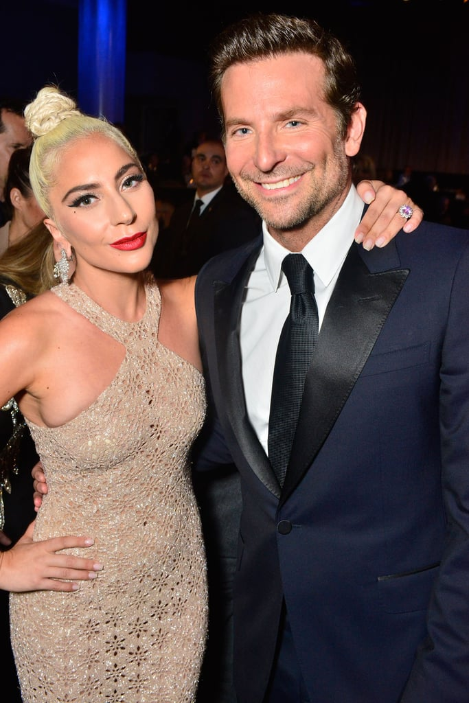 "We first caught wind of Lady Gaga and Bradley Cooper's surprising friendship when they were spotted taking a ride on the actor's motorcycle back in 2016, and once it was announced that they'd be working together in a reboot of A Star Is Born, all eyes were on the unlikely pals. Not only do Bradley and Gaga get along well in real life, but they translated their mutual love and respect for each other onto the big screen as well. In a recent interview with Vogue, Gaga opened up about her ""instant connection"" with Bradley: ""The second that I saw him, I was like, 'Have I known you my whole life?'"" she said, adding, ""It was an instant connection, instant understanding of one another."" After their press tour for A Star Is Born, we got even more sweet glimpses of their chemistry on the red carpet and in interviews. At the Toronto Film Festival, Bradley got a rise out of the crowd when he adorably helped lift Gaga's intricate veil. And now that award season is upon us, the costars have been cheering each other on and sharing even more emotional moments. We'd be lying if we said we didn't wish these two could date, but alas, they're both in serious relationships. Keep reading to see their best friendship moments so far, and stay tuned for more adorable photos of the two as they take on award season!      Related:                                                                                                           For the Love of God, Please Gaze Upon These Pictures of Lady Gaga in Venice"