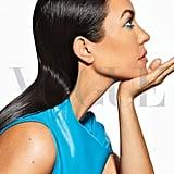 Kourtney Kardashian's Blue Liner in Vogue Mexico
